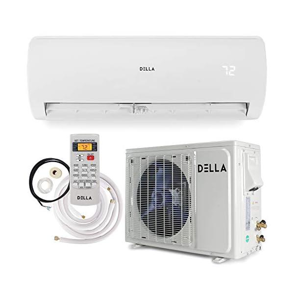 DELLA 12,000/18,000/24,000 BTU Mini Split Ductless Wall Mounted Air Conditioner Inverter w/Heat Pump System Full Set