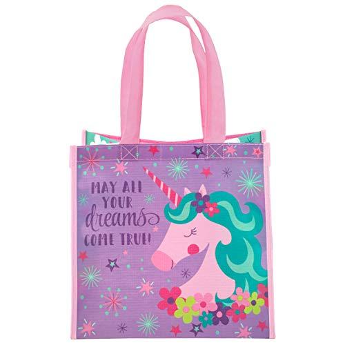 Stephen Joseph Kids Medium Recycled Gift Bag, Unicorn