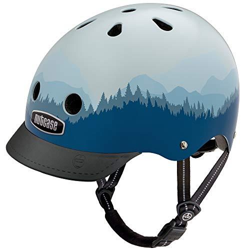 Nutcase Street casco Unisex adulti, Bianco/Blu