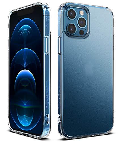 Ringke Cover Fusion Compatibile con iPhone 12 PRO Max, Custodia Anti-Impronte Antiurto Paraurti - Matte Clear