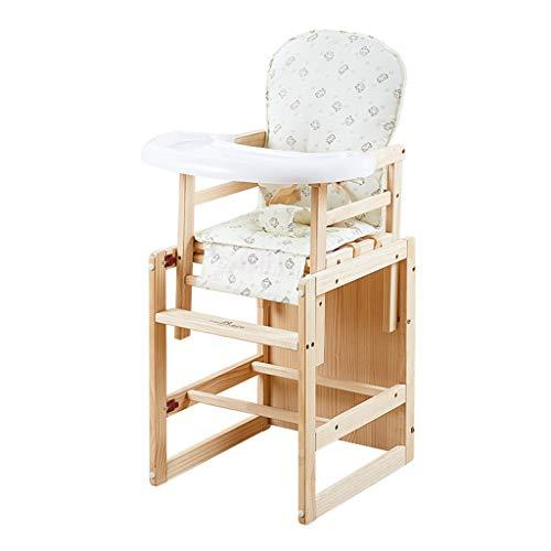 en Bois Multifonctionnel Chaise de bébé   Chaise de Salle à Manger pour bébé Hauteur Ajustable   Portable Pliable Alimentation de bébé Chaise Haute