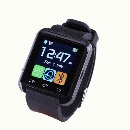 TenYua U8 Smartwatch UWatch Bluetooth Smart Watch for iphone Android Smartphones (Red)