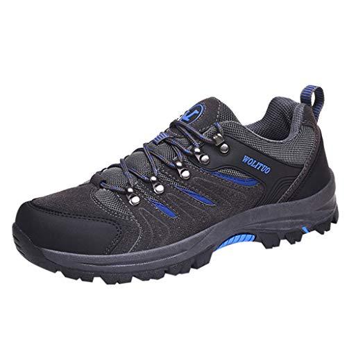 Battnot Herren Damen Sneaker Schwarz, Männer Frauen Outdoor Sportschuhe Komfortable Verschleißfeste rutschfeste Turnschuhe Wanderschuhe Schnürschuhe Spitze-up Laufschuhe Atmungsaktiv Freizeitschuhe
