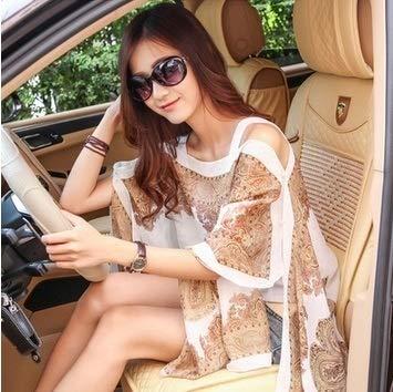 feiren Gilet kimono en mousseline de soie avec protection solaire pour femme Vêtement d'extérieur 2021 Vêtement d'été tendance grande taille Chemisier décontracté (couleur : kaki, taille : unique)
