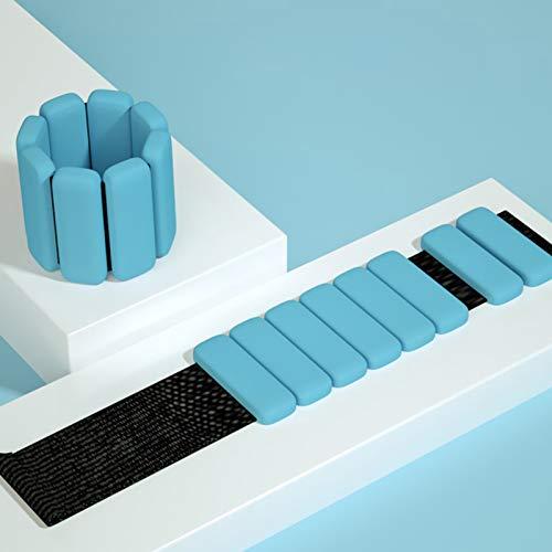 GYAM Pesas De Tobillo Peso De Muñeca Ajustable para Hombres Y Mujeres 450Gx2 (28X6.5Cm),Azul