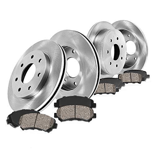 [ 4WD ] FRONT 308 mm + REAR 334 mm Premium OE 7 Lug [4] Rotors + [8] Quiet Low...