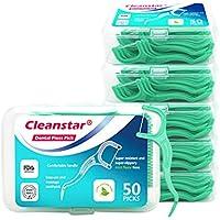 mreechan Hilo Dental, Palillos de Hilo Dental para Interdental Oral Limpieza, Palillos de hilo dental Plástico,Floss sticks 300 Piezas-50 / paquete