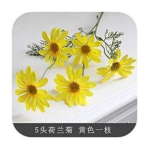 HaHapo Chrysanthemum Artificial Small Daisy Cosmos High-Grade Artificial Flower Bud Flower Small Wild Chrysanthemum Fake Flower