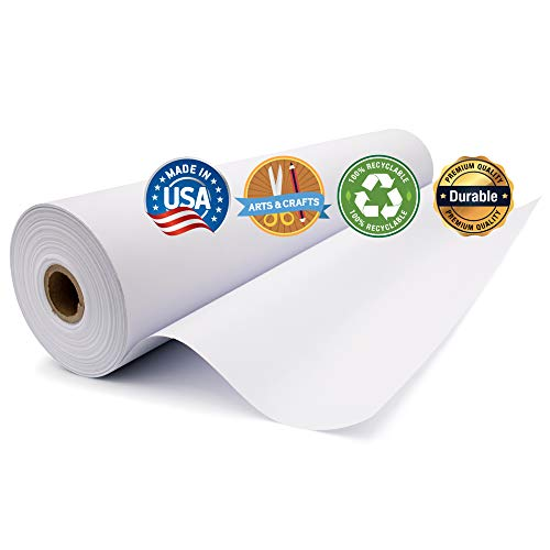 Durable Art Easel Paper Roll for Crafts, Drawing & Painting | Ideal for Kids Projects | 17.75 inches x 100 feet | by Paper Pros