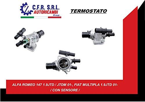 Termostato refrigerante Alfa Romeo 156 147 Fiat Marea Stilo múltiple 1.9 Jtd