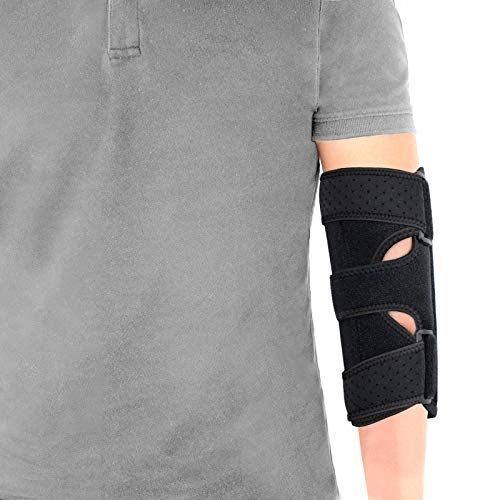 Elbow Brace, Night Elbow Sleep Support, Comfortable Elbow Splint, Adjustable Stabilizer with 2 Removable Metal Splints for Cubital Tunnel Syndrome, Tendonitis, Ulnar Nerve, Tennis, Men, Women