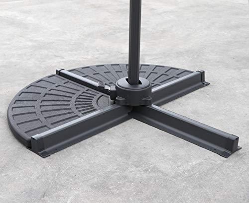 Jati Cantilever Parasol Base Weights - 24kg (In Total)   Set of 2   Concrete Filled
