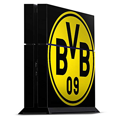 DeinDesign Skin kompatibel mit Sony Playstation 4 PS4 Folie Sticker Borussia Dortmund Logo BVB