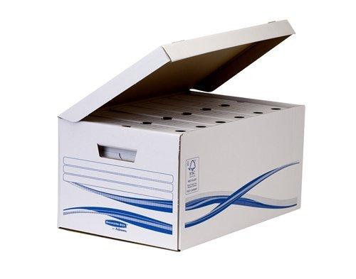 Bankers Box 4460504 Klappdeckelbox Maxi und 6 Stück Archivschachteln, 80 mm - 3