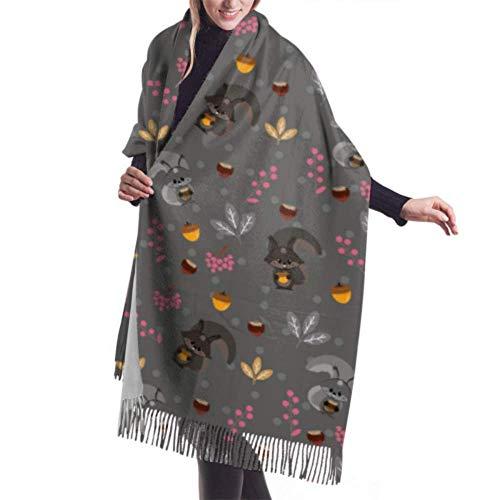 Jingliwang Bufandas Abrigo Chal Womens Winter Scarf Cashmere Feel Flower Pattern Floral Scarves Stylish Shawl Wraps Soft Warm Blanket Scarves For Women