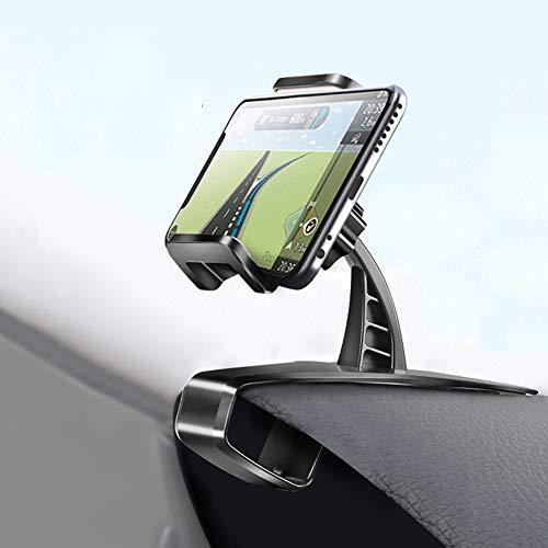 Timpou Supporto da auto per smartphone sul cruscotto, 2 in 1 Smartphone Supporto Universale Rotazione di 360° Porta Cellulare da Auto Presa dell'Aria per iPhone Samsung Huawei Xiaomi Telefono