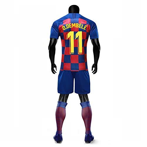 XH Herren Fußbälle Trikot -Set Trainingskleidung Ousmane Dembélé # 11, alle Größen Kinder und Erwachsene (Size : Children-130)