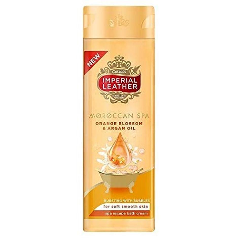 認可似ている厳[Imperial Leather ] 帝国革モロッコスパバスクリーム500ミリリットル - Imperial Leather Moroccan Spa Bath Cream 500ml [並行輸入品]