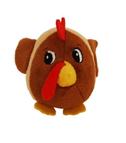 X-Small Outward Hound Kyjen 32197 Fattiez Round Squeaky Plush Dog Toy Chicken
