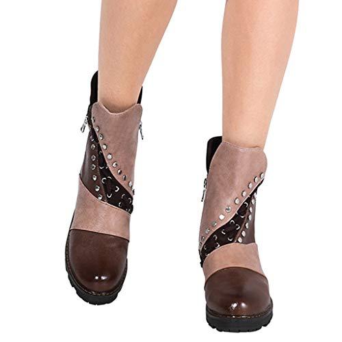 Stiefeletten Damen Schuhe Boots Stiefel Frauen Vintage Herbst Winter Stiefel aushöhlen Stiefeletten Lässige High Heels Stiefel Schuhe Frauen Casual Freizeitschuhe Frauenschuhe