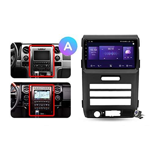 W-bgzsj Android 10.0 GPS Car Estéreo, Radio para Ford F150 P415 Raptor 2008-2014 Unidad de Cabeza de navegación MP5 Reproductor Multimedia Video Receptor con 4G / 5G WiFi DSP RDS FM MirrorLink