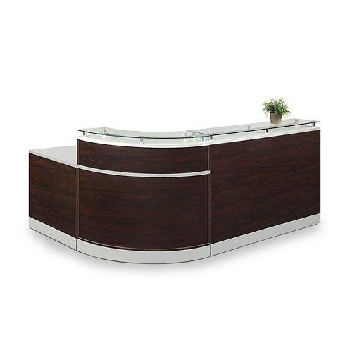 Esquire Glass Top Large Reception Desk