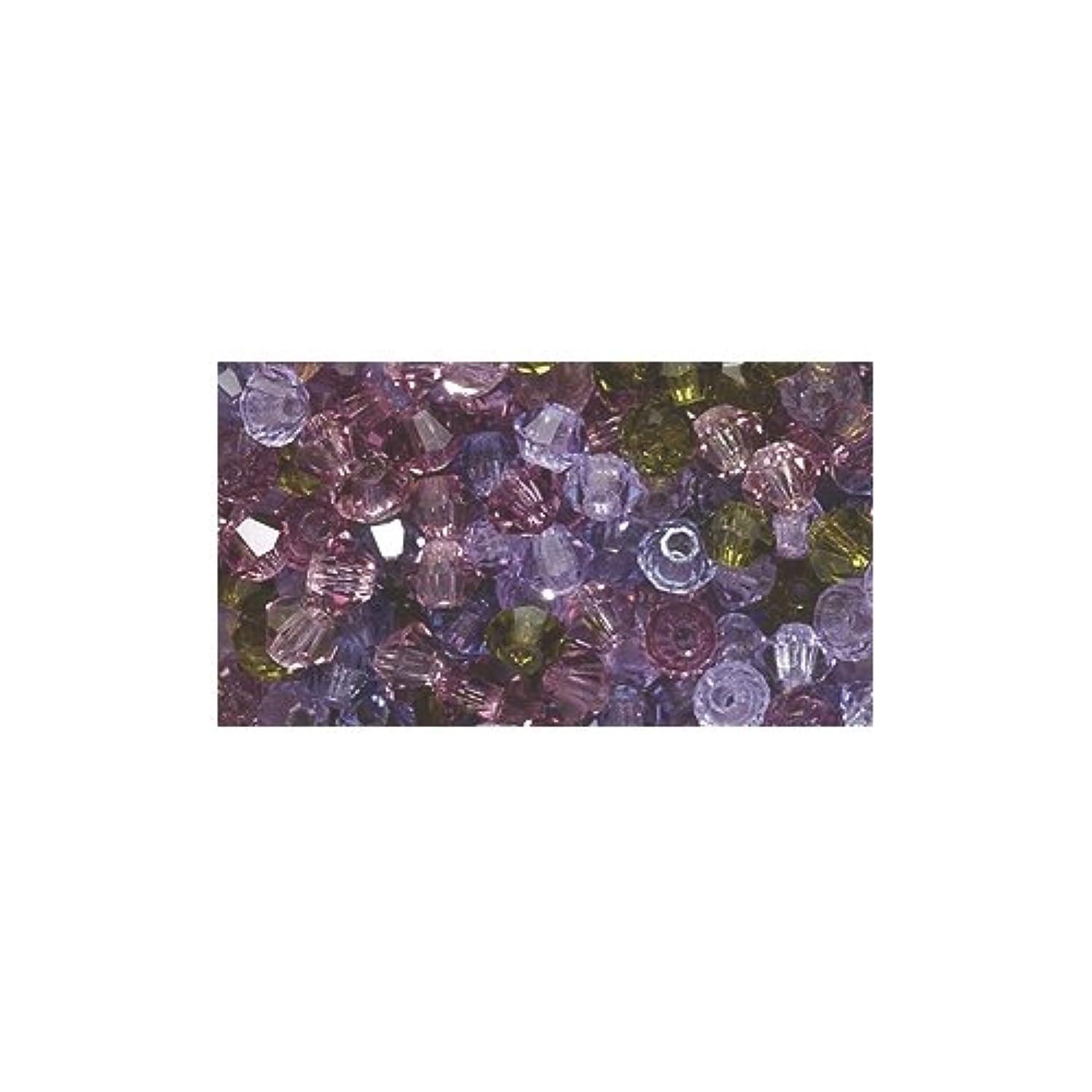 Preciosa 3-Mm Crystal Diamond/Bicone Bead, Lilac Grove Mix, 144-Piece