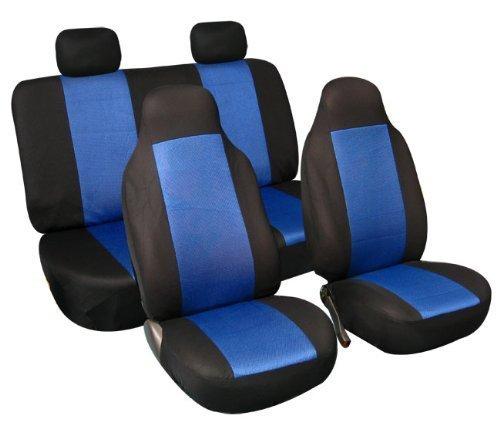 FH Group FB102BLUE114 Blue 3D Air Mesh Auto Seat Cover (Full Set)
