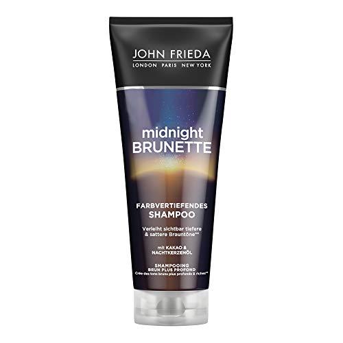 John Frieda Midnight Brunette Shampoo - Haartyp: braun, brünett - Farbvertiefend - Mit Kakao und Nachtkerzenöl, 250 ml