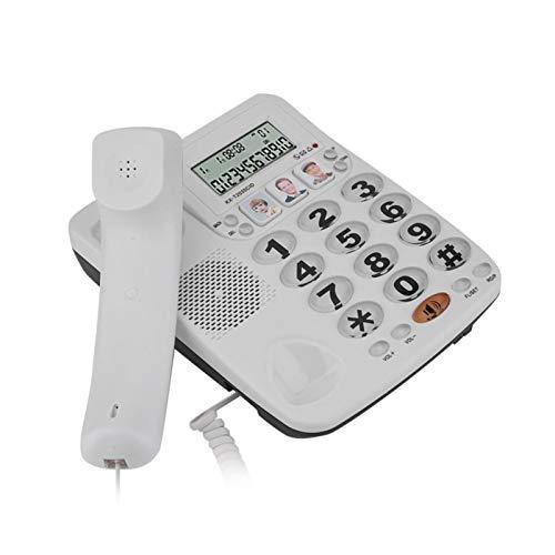 PUSOKEI Téléphone filaire à 2 lignes, téléphone fixe de Bureau, Avec Identification de l'appelant et fonction de numérotation abrégée, pour hôtel de Bureau à Domicile
