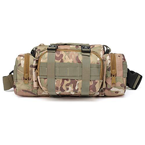 Atrumly Jagd-Rucksack, Outdoor-Reisetasche, multifunktional, taktische Tasche, Strategiespiel, Camouflage, Hüfttasche für Camping, Klettern, H-Camouflage