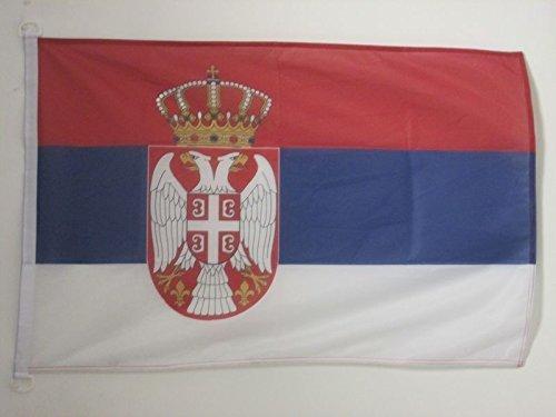 AZ FLAG Flagge SERBIEN 90x60cm - SERBISCHE Fahne 60 x 90 cm Aussenverwendung - flaggen Top Qualität