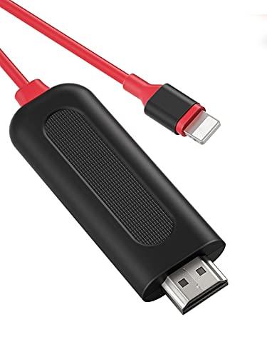 YEHUA Adattatore HDMI per Phone, Cavo HDMI 1080P Compatibile con Phone XS/XS Max/XR/X / 8/7/6 Pad Pod al Monitor TV Proiettore