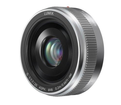 Panasonic H-H020A MILC/SLR Silber - Kameraobjektive (MILC/SLR, 7/5, 0,2 m, Micro Four Thirds, 1,7-16, Manuell)