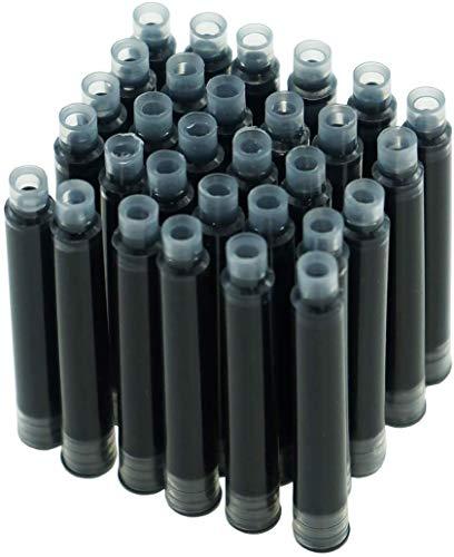 Juego de 30 cartuchos de tinta Hongdian, color negro, diámetro de 3,4 mm