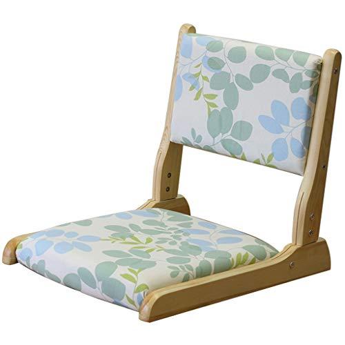 YUESFZ Sessel&Sitzsäcke Klappstuhl Aus Massivem Holz Im Japanischen Stil Klappstuhl Für Erkerfenster Ohne Beine Home Multi-Color Optional (Color : Floral, Size : 43 * 52 * 5.5 cm)