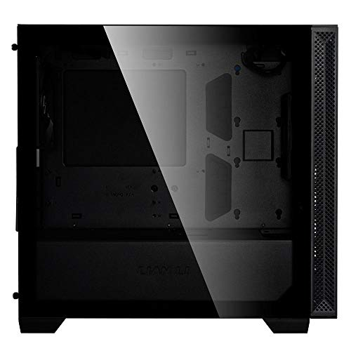 Lian Li Mid-Tower Chassis Micro ATX Computer Case PC Gaming Case w/Tempered Glass Side Panel, Magnetic Dust Filter, Water-Cooling Ready, Side Ventilation, 2x120mm PWM Fan Pre-Installed (205M, Black)