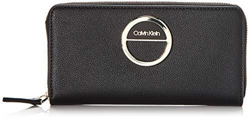 Calvin Klein Damen DISC Ziparound Wallet Lg Geldbörse Schwarz (Black)