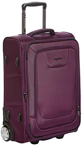 Amazon Basics Expandable Softside Carry-On Luggage Suitcase With TSA Lock And Wheels - 24 Inch, Purple