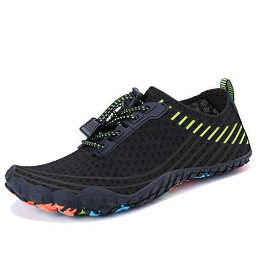 MAYZERO Water Shoes Swim Surf Shoes Beach Pool Shoes Wide Toe Hiking Water Sneakers Quick Dry Aqua Shoes for Men and Women