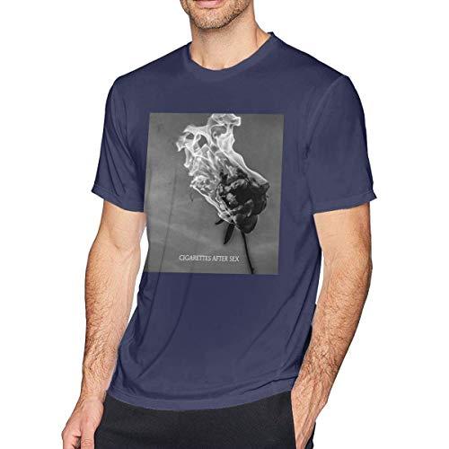 ugongchengyouxi Maglietta da Uomo a Manica Corta Cigarette After Sex You're all I Want Comfort Men's Short Sleeve T-Shirt Cotton Navy