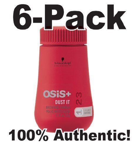 Osis Dust it ~ Mattifying Powder by Noir Tête .35oz (6 Pack). by Schwarzkopf Osis [Beauty] (English Manual)