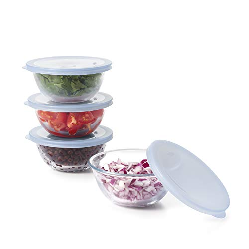 OXO Good Grips 8-Piece Glass Prep Bowl Set