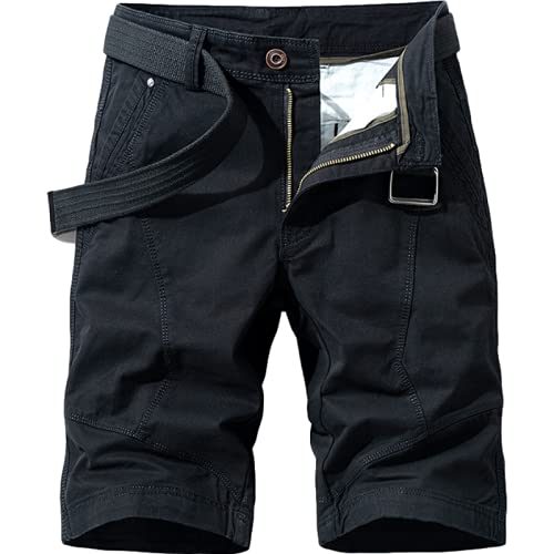 Pantalón de chándal de Moda para Hombre, Trabajo al Aire Libre, Verano, Retro, Color sólido, Fino, Transpirable, Pantalones Cortos Casuales, Pantalones Cargo, con Bolsillo 38