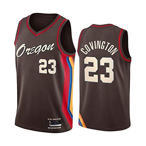 MRYUK Jersey de Baloncesto Adulto, Portland Trail Blazers 0# Damian Lillard Basketball Camiseta, Chaleco de Manga Corta, Textura Suave, Secado rápido y Transpirable NO.23-M