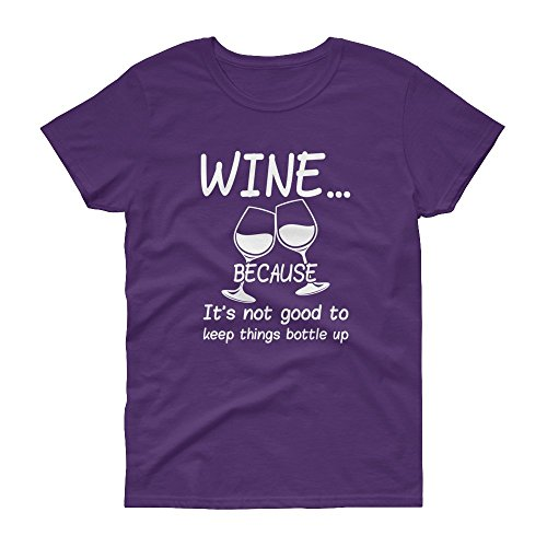 Ground 29 Wine It's Not Good to Keep Things Bottled up Women's Tee (2X-Large)