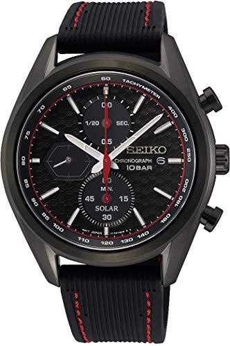 Seiko Herren Analog Japanischer Quarz Uhr mit Silicone Armband SSC777P1