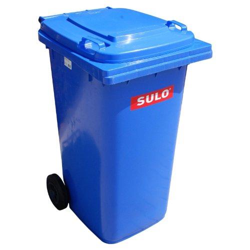 *Müllgroßbehälter 80 L HDPE Blau Fahrbar, Nach EN840 SULO*