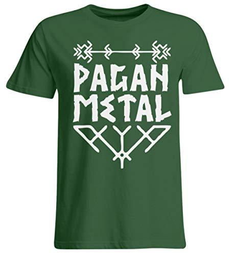 Generisch Pagan Metal (weiß) | Viking Metal, Wikinger, Asatru, Thors Hammer, Odin, Wotan, Ensiferum - Übergrößenshirt -4XL-Dunkelgrün