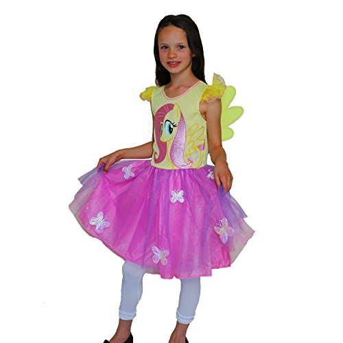 Rubie's Officiële feeënjurk Fluttershy van My Little Pony pak (Small, 3-4 Years) multicolor